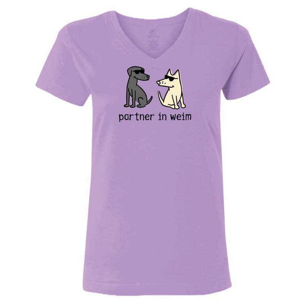 Partner in Weim - Ladies T-Shirt V-Neck