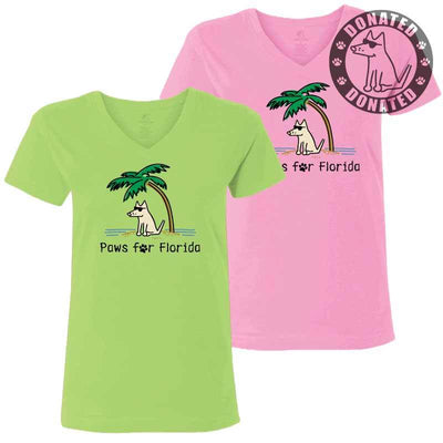 Paws for Florida - Ladies T-Shirt V-Neck