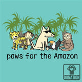 Paws For The Amazon - Ladies T-Shirt V-Neck