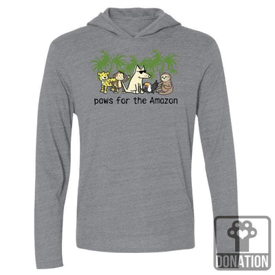 Paws For The Amazon - Long-Sleeve Hoodie T-Shirt
