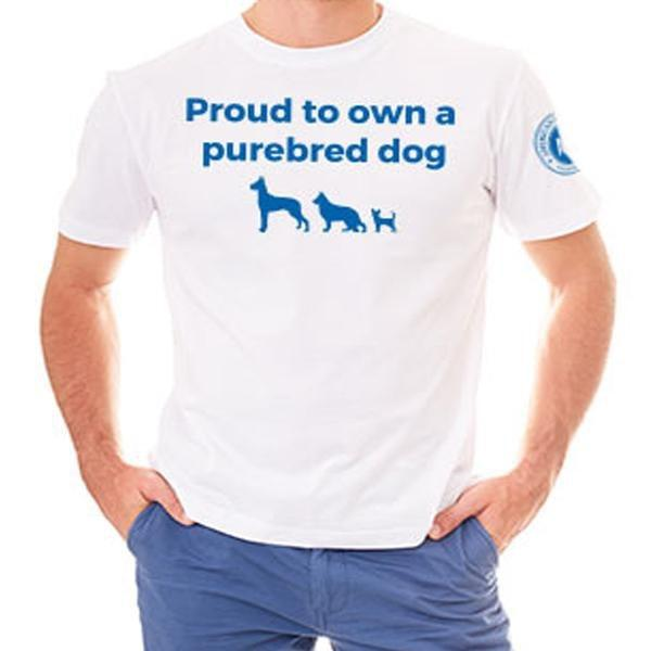 """Proud To Own A Purebred Dog"" T-Shirt"