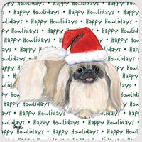 "Pekingese ""Happy Howlidays"" Coaster"