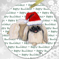 "Pekingese ""Happy Howlidays"" Ornament"