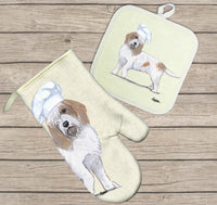 Petit Basset Griffon Vendeen Oven Mitt and Pot Holder