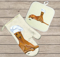 Pharaoh Hound Oven Mitt and Pot Holder