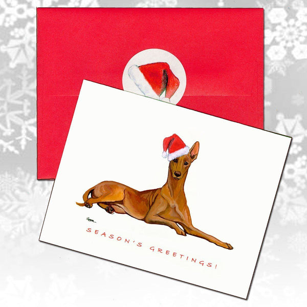 Pharaoh Hound Christmas Note Cards