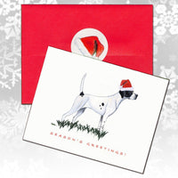 Pointer Christmas Note Cards