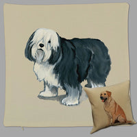Polish Lowland Sheepdog Pillow Cover