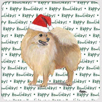 "Pomeranian, Red ""Happy Howlidays"" Coaster"