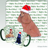 Poodle Holiday Mug