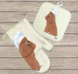 Poodle Oven Mitt and Pot Holder
