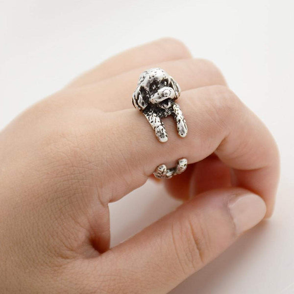 Toy Poodle Wrap Ring