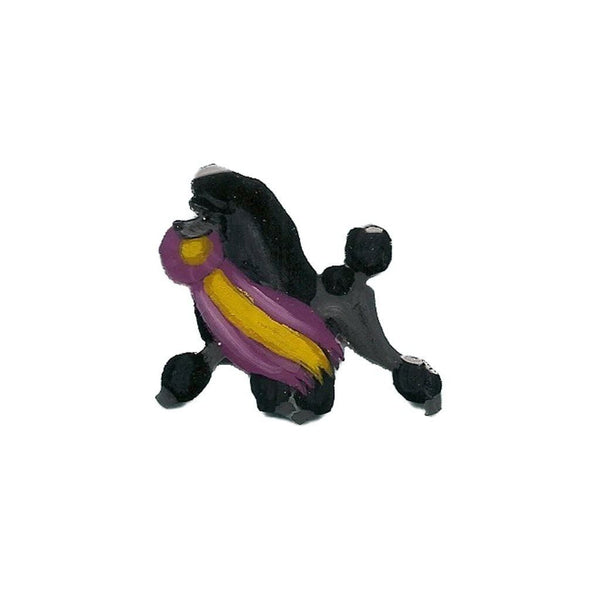 Hand-Painted Poodle Pin