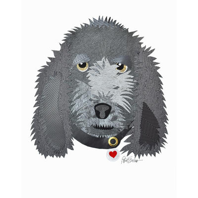 Reed Evins Portuguese Water Dog Dog Collage