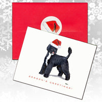 Portuguese Water Dog Christmas Note Cards