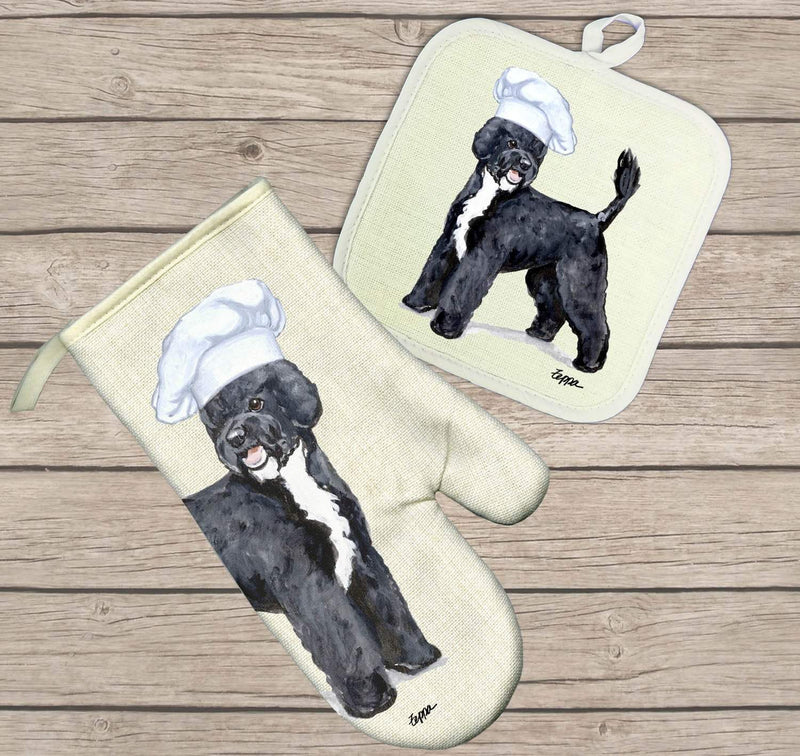 Portuguese Water Dog Oven Mitt and Pot Holder