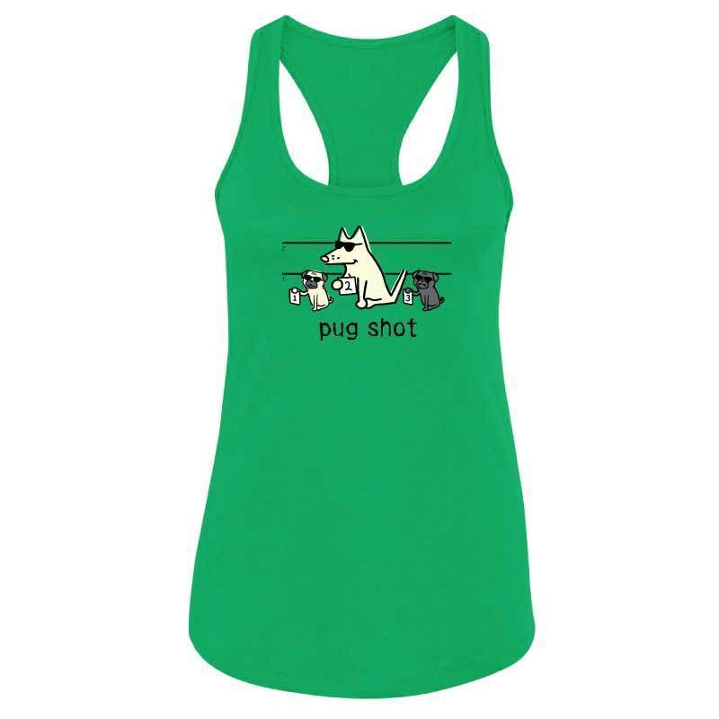 Pug Shot - Ladies Racer Back Tank Top