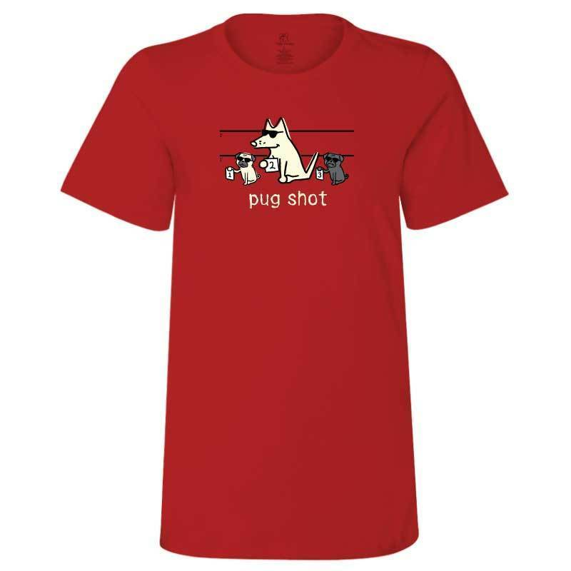 Pug Shot - Ladies T-Shirt Crew Neck