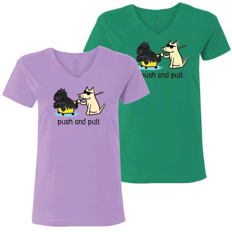 Push And Puli - Ladies T-Shirt V-Neck