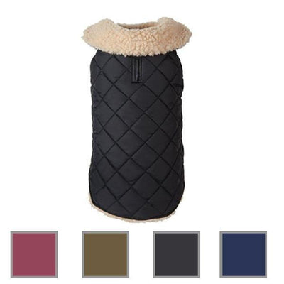 Quilted Shearling Dog Coat