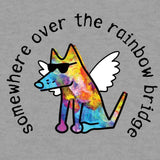 Somewhere Over The Rainbow Bridge - Ladies T-Shirt V-Neck