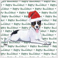 "Rat Terrier ""Happy Howlidays"" Coaster"