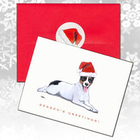 Rat Terrier Christmas Note Cards