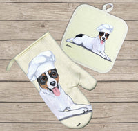 Rat Terrier Oven Mitt and Pot Holder