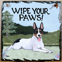 Rat Terrier Slate Sign