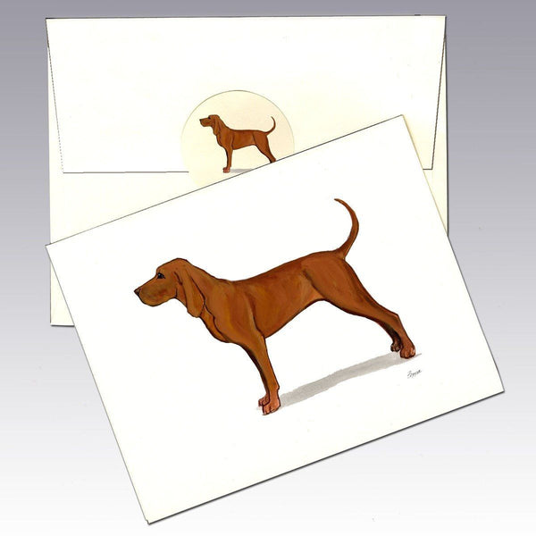 Redbone Coonhound Note Cards