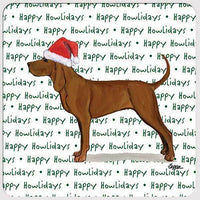 "Redbone Coonhound ""Happy Howlidays"" Coaster"