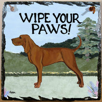 Redbone Coonhound Slate Sign