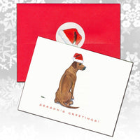 Rhodesian Ridgeback Christmas Note Cards