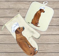 Rhodesian Ridgeback Oven Mitt and Pot Holder
