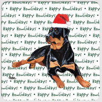 "Rottweiler ""Happy Howlidays"" Coaster"