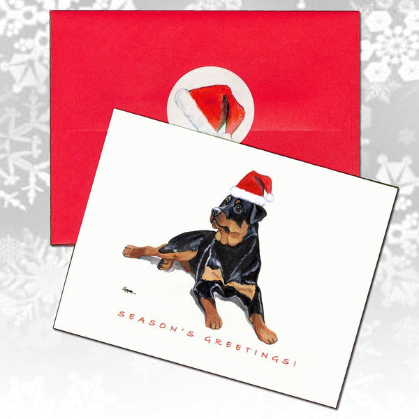 Rottweiler Christmas Note Cards