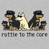 Rottie To The Core  - Lightweight Tee