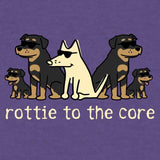 Rottie To The Core - Long-Sleeve Hoodie Shirt
