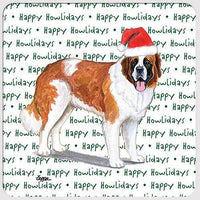 "Saint Bernard ""Happy Howlidays"" Coaster"