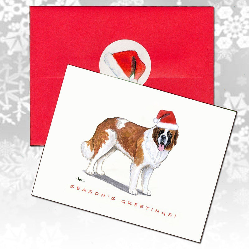 Saint Bernard Christmas Note Cards