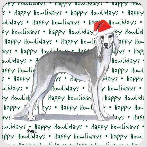 "Saluki ""Happy Howlidays"" Coaster"