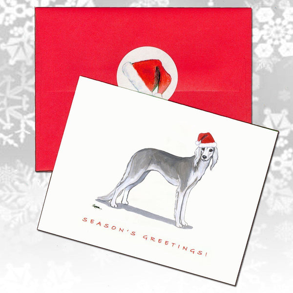 Saluki Christmas Note Cards