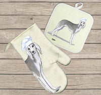 Saluki Oven Mitt and Pot Holder
