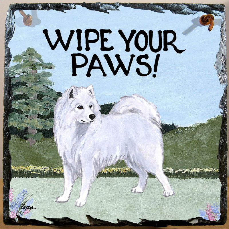 Samoyed Slate Sign