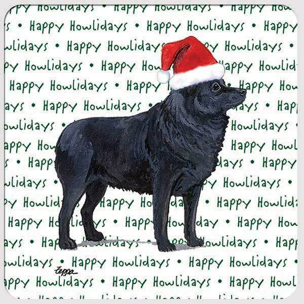 "Schipperke ""Happy Howlidays"" Coaster"