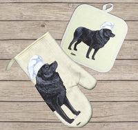 Schipperke Oven Mitt and Pot Holder