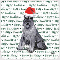 "Schnauzer ""Happy Howlidays"" Coaster"