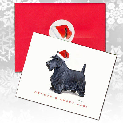Scottish Terrier Christmas Note Cards