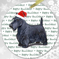 "Scottish Terrier ""Happy Howlidays"" Ornament"