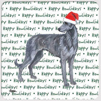 "Scottish Deerhound ""Happy Howlidays"" Coaster"